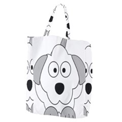 Animal Cartoon Colour Dog Giant Grocery Zipper Tote