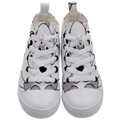 Animal Cartoon Colour Dog Kid s Mid Top Canvas Sneakers