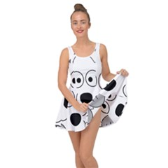 Animal Cartoon Colour Dog Inside Out Casual Dress