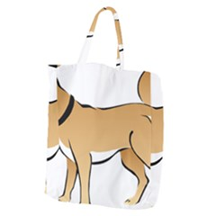 Dog Brown Pet Animal Tail Eskimo Giant Grocery Zipper Tote