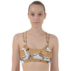 Dog Brown Pet Animal Tail Eskimo Line Them Up Sports Bra