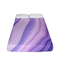 Marbled Ultra Violet Fitted Sheet (full/ Double Size) by 8fugoso