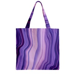 Marbled Ultra Violet Zipper Grocery Tote Bag by 8fugoso