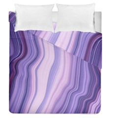 Marbled Ultra Violet Duvet Cover Double Side (queen Size) by 8fugoso