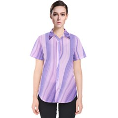 Marbled Ultra Violet Women s Short Sleeve Shirt by 8fugoso