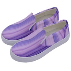 Marbled Ultra Violet Kids  Canvas Slip Ons by 8fugoso