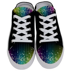 Colorful Space Rainbow Stars Women s Half Slippers