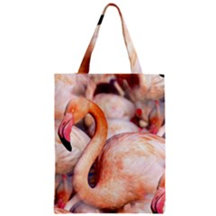 Pink Flamingos Flock Zipper Classic Tote Bag by CrypticFragmentsColors