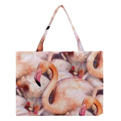 Pink Flamingos Flock Medium Tote Bag by CrypticFragmentsColors