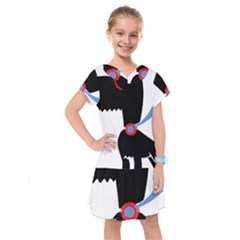 Dog Scottish Terrier Scottie Kids  Drop Waist Dress