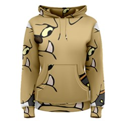 Bulldog Dog Head Canine Pet Women s Pullover Hoodie
