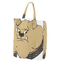 Bulldog Dog Head Canine Pet Giant Grocery Zipper Tote