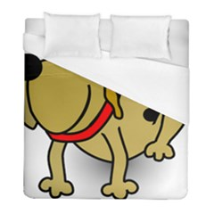 Dog Brown Spots Black Cartoon Duvet Cover (full/ Double Size)