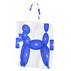 Poodle Dog Balloon Animal Clown Giant Grocery Zipper Tote