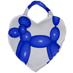 Poodle Dog Balloon Animal Clown Giant Heart Shaped Tote