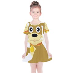 Dog Doggie Bone Dog Collar Cub Kids  Simple Cotton Dress