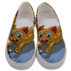 Cat Ball Play Funny Game Playing Men s Canvas Slip Ons