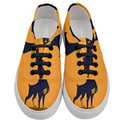 Illustration Silhouette Art Mammals Women s Classic Low Top Sneakers