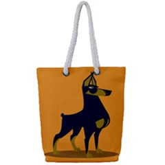 Illustration Silhouette Art Mammals Full Print Rope Handle Tote (small)