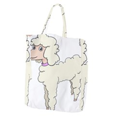 Poodle Dog Breed Cute Adorable Giant Grocery Zipper Tote