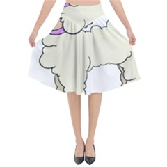 Poodle Dog Breed Cute Adorable Flared Midi Skirt