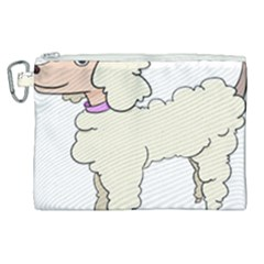 Poodle Dog Breed Cute Adorable Canvas Cosmetic Bag (xl)