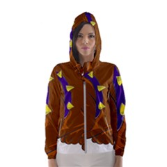 Bulldog Cartoon Angry Dog Hooded Windbreaker (women)
