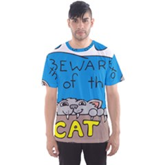 Cat Print Paw Pet Animal Claws Men s Sports Mesh Tee by Nexatart