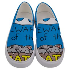 Cat Print Paw Pet Animal Claws Men s Canvas Slip Ons