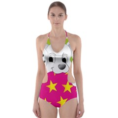 Dalmatians Dog Puppy Animal Pet Cut Out One Piece Swimsuit