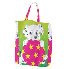 Dalmatians Dog Puppy Animal Pet Giant Grocery Zipper Tote