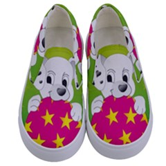 Dalmatians Dog Puppy Animal Pet Kids  Canvas Slip Ons