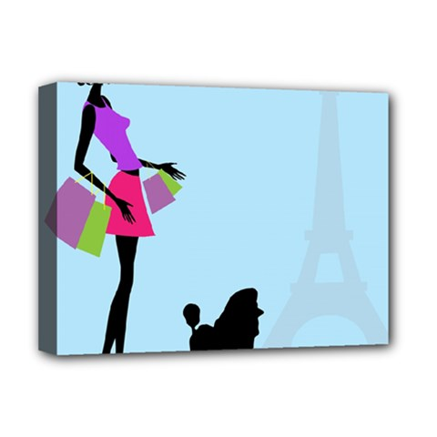 Woman Girl Lady Female Young Deluxe Canvas 16  X 12   by Nexatart