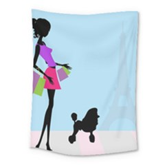 Woman Girl Lady Female Young Medium Tapestry