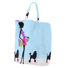 Woman Girl Lady Female Young Giant Grocery Zipper Tote