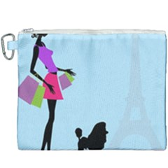 Woman Girl Lady Female Young Canvas Cosmetic Bag (xxxl) by Nexatart