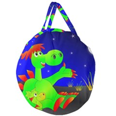 Dragon Grisu Mythical Creatures Giant Round Zipper Tote