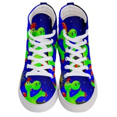 Dragon Grisu Mythical Creatures Women s Hi Top Skate Sneakers