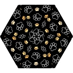 Dog Pawprint Tracks Background Pet Mini Folding Umbrellas