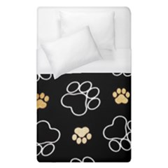 Dog Pawprint Tracks Background Pet Duvet Cover (single Size) by Nexatart