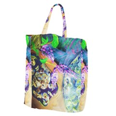 Blue Lilac On A Countertop 3 Giant Grocery Zipper Tote by bestdesignintheworld