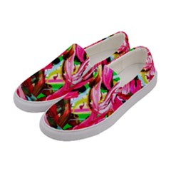 Flamingo   Child Of Dawn 5 Women s Canvas Slip Ons by bestdesignintheworld