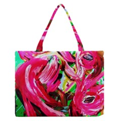 Flamingo   Child Of Dawn 5 Zipper Medium Tote Bag by bestdesignintheworld