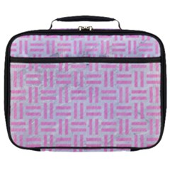 Woven1 White Marble & Pink Colored Pencil (r) Full Print Lunch Bag by trendistuff