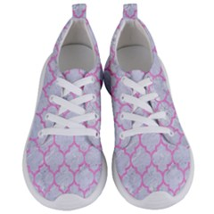 Tile1 White Marble & Pink Colored Pencil (r) Women s Lightweight Sports Shoes