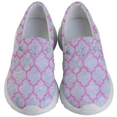 Tile1 White Marble & Pink Colored Pencil (r) Kid s Lightweight Slip Ons