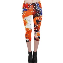 Smashed Butterfly 2 Capri Leggings  by bestdesignintheworld