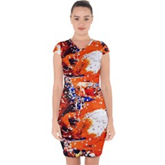 Smashed Butterfly 2 Capsleeve Drawstring Dress