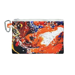 Smashed Butterfly 2 Canvas Cosmetic Bag (medium)