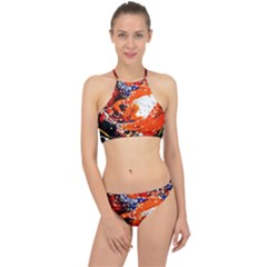 Smashed Butterfly 2 Racer Front Bikini Set